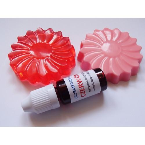 Barwnik do mydeł i mydełek MIGRUJĄCY Czerwony, 10ml