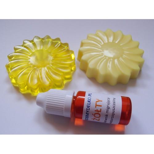 Barwnik do mydeł i mydełek MIGRUJĄCY Żółty, 10ml