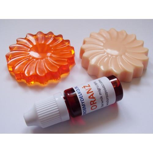 Barwnik do mydeł i mydełek MIGRUJĄCY Oranż, 10ml
