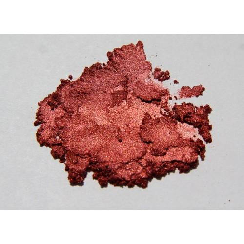 Brokat do mydeł i mydełek micro 0.1mm czerwono-brązowy 50g