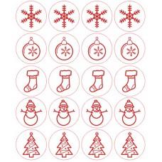 Naklejka dekoracyjna NK242 Boże Narodzenie, 40 szt.