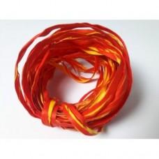 Rafia dwukolorowa 5m czerwono-żółty