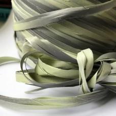 Rafia dwukolorowa szaro-oliwkowa 5m