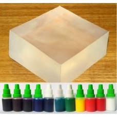 Baza mydlana Clear SLS Free + forma plastikowa + 10ml barwnik